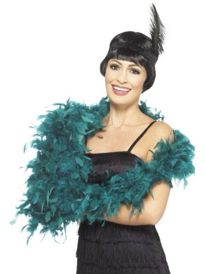 Wholesale Feather Boas Deluxe - Teal
