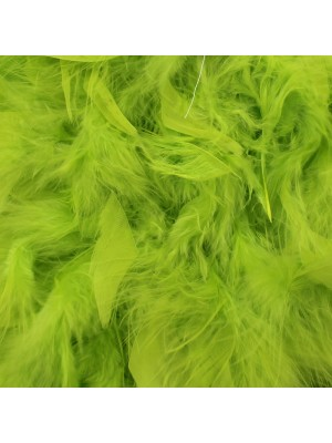 Feather Boas Lime Green Deluxe 200cm Long
