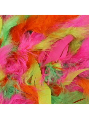 Feather Boas Neon Mix Deluxe 200cm Long