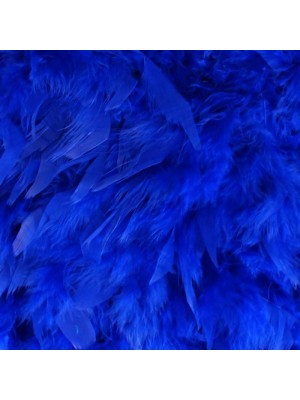 Feather Boas Royal Blue Deluxe 200cm Long