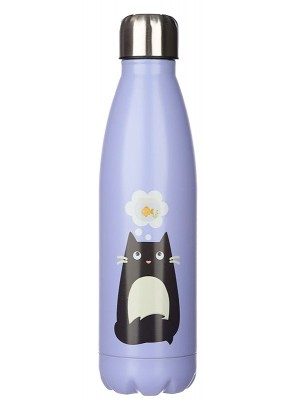 Wholesale Feline Fine Cat Reusable Stainless Steel Hot & Cold Thermal Insulated Drinks Bottle - 500ml