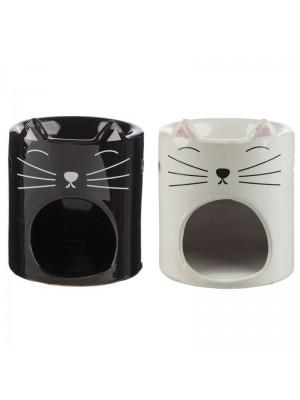 Wholesale Feline Fine Ceramic Cat Head Oil burner - Assorted Colours