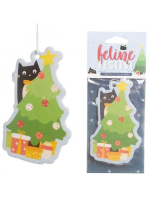 Wholesale Festive Feline Tree Cat Cinnamon Spice Air Freshener