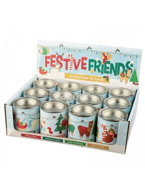 Wholesale Festive Friends Scented Christmas Candles