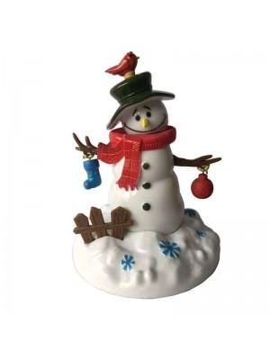 Snowman Solar Powered Figurine