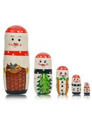 Matryoshka Russian Nesting Doll - Snowman Family - 16cm