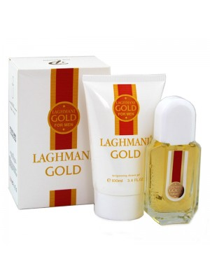 Wholesale Fine Perfumery 2 Piece Mens Gift Set - Laghmani Gold