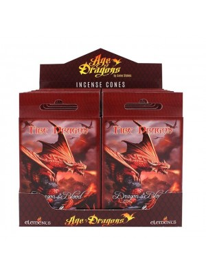 Fire Dragon Anne Stokes Incense Cones - 12 Packs