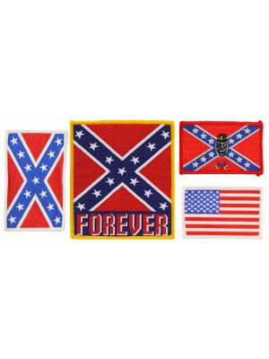 Flags Iron-On Patches - Assorted Designs