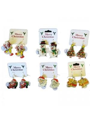 Wholesale Flashing Christmas Earrings
