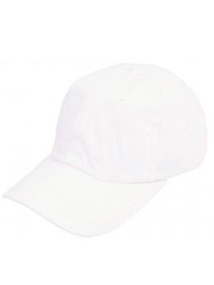 Flat Snapback Cap 5 Panel - White