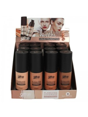 Saffron Flawless Coverage Liquid Foundation - Tray B