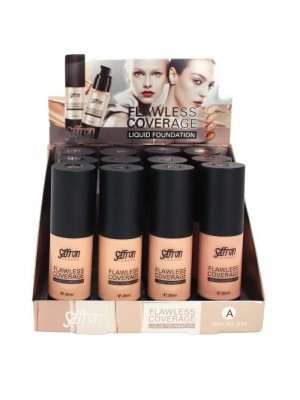 Wholesale Saffron Flawless Coverage Liquid Foundation - Tray A