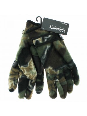 Men's Camouflage Fleece Gloves - Assorted Colours