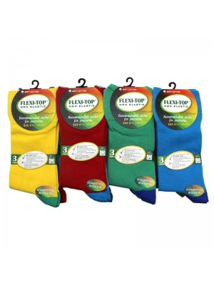 Mens Flexi Top Non Elastic Socks Assorted Colours UK 6-11