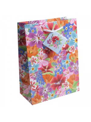 Floral Design Gift Bag (17x23x9cm)