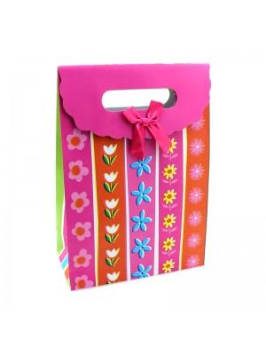 Floral Design Large Gift Bags - H27cm x W19cm x D9cm