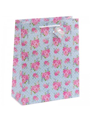 Laura Bell Chintz Floral Gift Bag Large(26x33 x12cm)