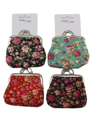 Floral Design Assorted Clasp Purse