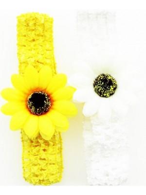 Crochet Flower Design Headbands - Assorted Colours