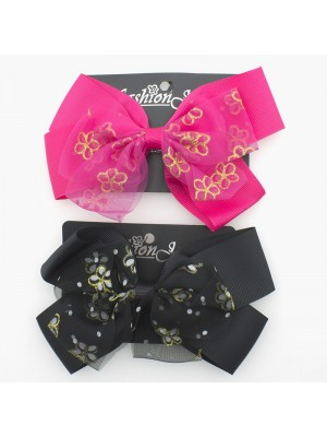 Flower Design Fashion Bows - 14cm