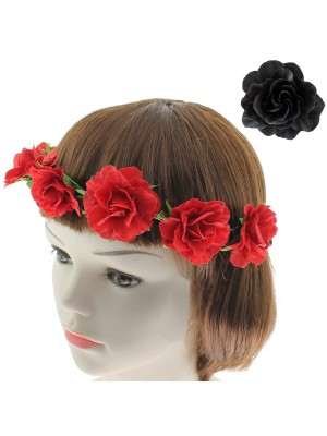 Flower Design Headbands - Assorted Colours