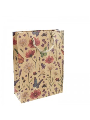 Flowers & Butterfly Design Gift Bags - 15 x 20 x 6cm