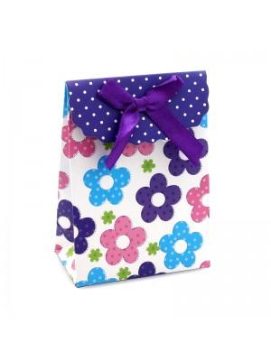 Flowers Design Mini Gift Bags - H10.5cm x W7.5cm x D4cm