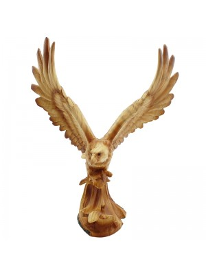 Flying Owl Wooden Figurine - 11inches