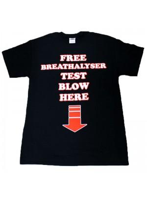 """Free Breathalyser Test Blow Here"" Black"