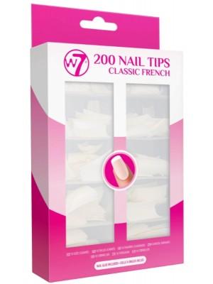 W7 Acrylic Nail Tips - French (200pcs)