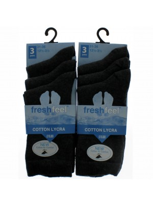 Fresh Feel Ankle High School Socks - Grey (12.5 - 3.5)
