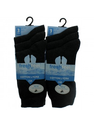 Fresh Feel Ankle High School Socks - Grey (4 - 7)