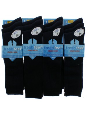 Fresh Feel Knee High School Socks - Navy (UK 9 -12)
