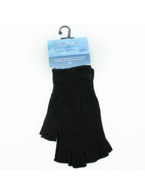 Men's Fresh Feel Fingerless Magic Gloves - Black