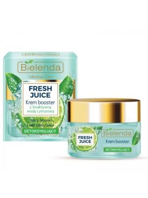 Wholesale Bielenda Fresh Juice Detoxifying Face Cream Boosster with Bioactive Citrus Water - Lime 50ml