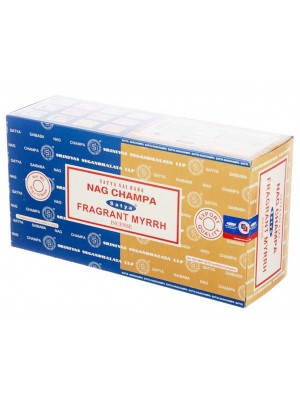 Wholesale Satya incense sticks - Nag Champa & Fragrant Myrrh
