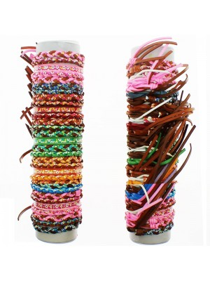 Friendship Bracelet On The Roll Assorted Flowers Design