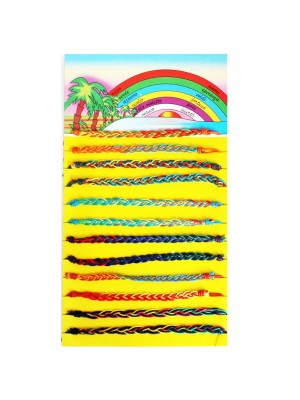 Friendship Cord Bracelet On The Card Plaited Assorted