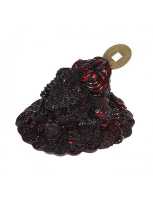 Wholesale Red Money Toad with Coin - 8cm