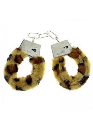 Furry Handcuffs - Leopard Print