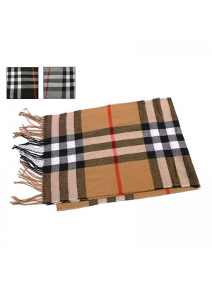 Men 100% Acrylic Scarf - Assorted Colours