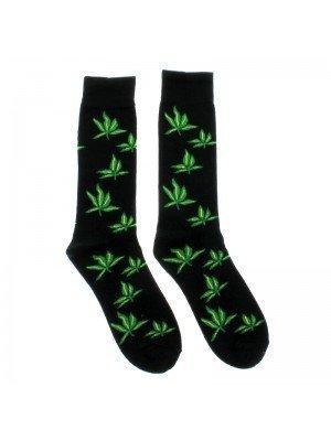 Ganja Leaf Print Rasta Design Socks