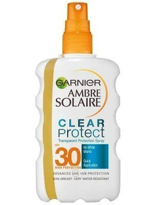 Garnier Ambre Solaire Clear Protect + - Transparent Body Protection Spray(Spf 30)