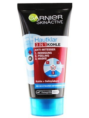 Garnier Skin Active Face Wash 3 in 1 Anti Blackheads With Charcoal