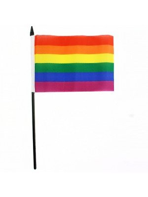 Gay Pride Rainbow Hand Flag - 6 x 4