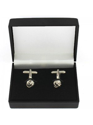 Gents Silver Cufflinks - Love Knot Design