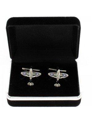 Gents Silver Cufflinks - Spitfire Design