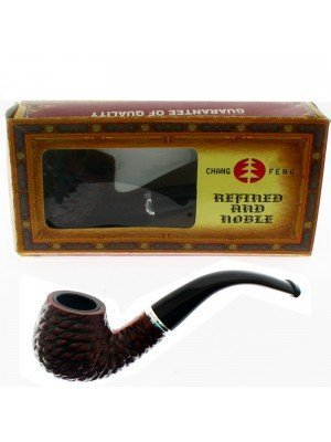 Gents Tobacco Pipe Bent Apple - Cells Pattern 5 Inch