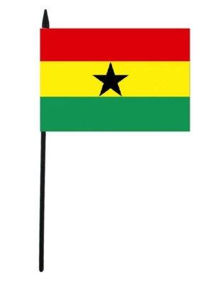 """Ghana Hand Flag 12"""" x 18"""""""